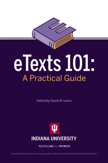 Cover image for eTexts 101: A Practical Guide