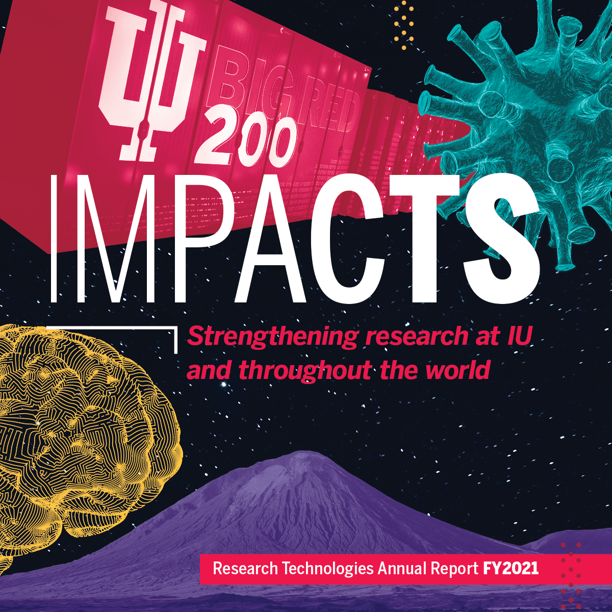 Cover image for IU Research Technologies: Impacts Annual Report FY2021