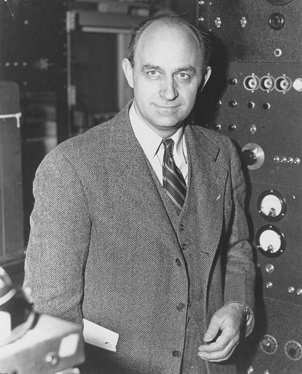 Photo of physicist Enrico Fermi.