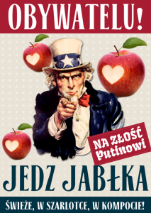 "Polish Poster urges citizens to ""Eat Apples"" in order ""to Annoy Putin"""