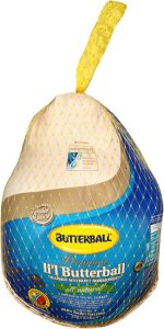 A small butterball turkey, packaged