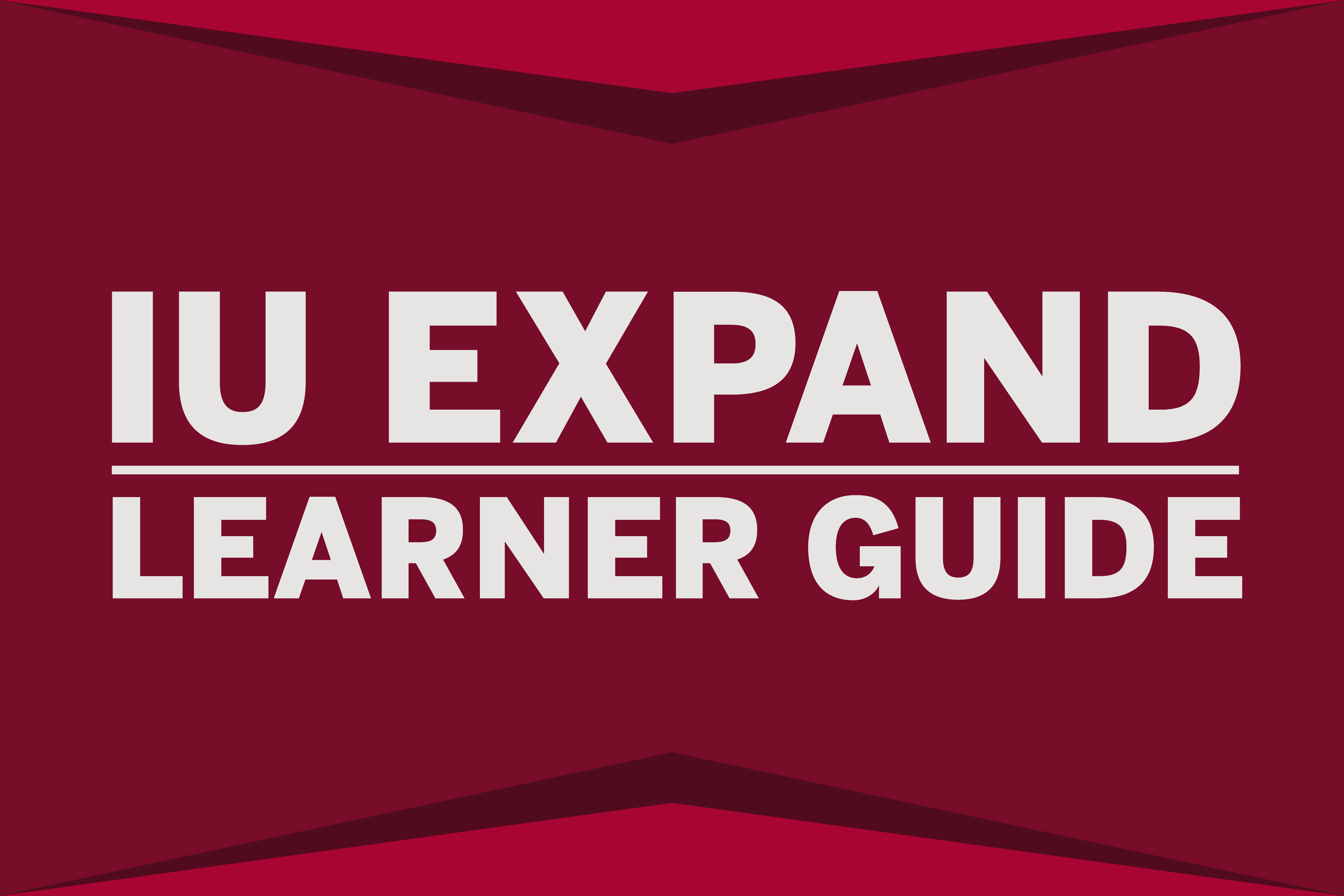 Cover image for IU Expand Learners Guide