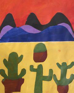 Cacti by Kolton T., grade 8
