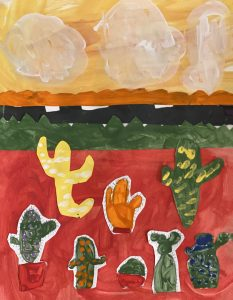 Cacti by Sam M., grade 6