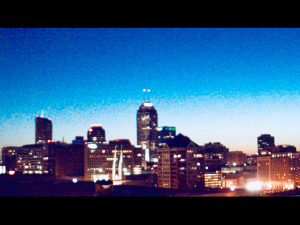 Daniel Moore, Sunrise Over Downtown, photography