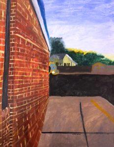 Kayden Gresham, The School Side, painting