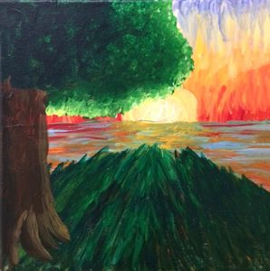 Kayden Gresham, The Sunset, painting