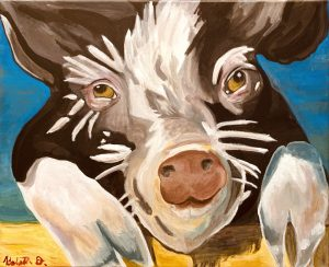 Krista Darrow, Pig, painting
