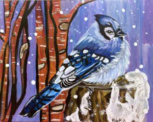 Krista Darrow, Snow Jay, painting