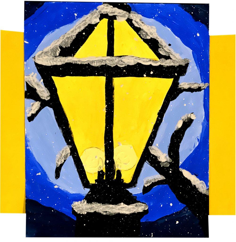 Lamppost by Nick M., grade 6