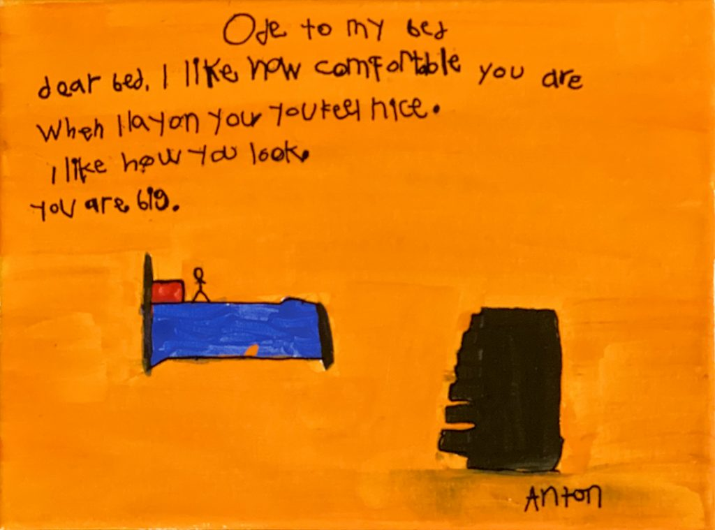 Ode to My Bed by Anton T., grade 8