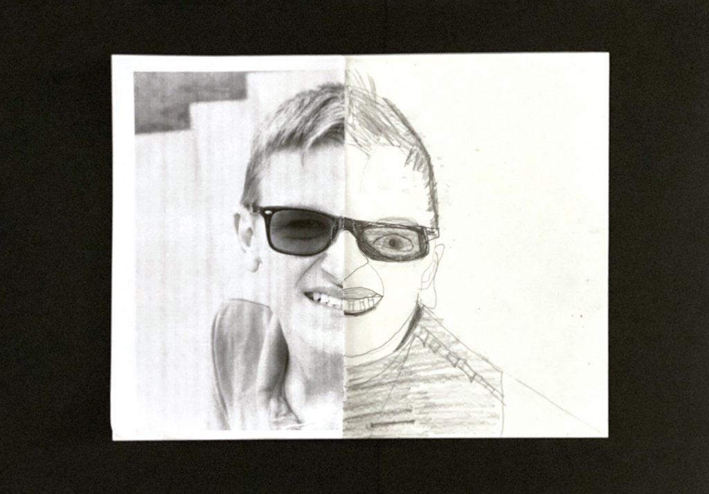 Self Portrait by Alex V., grade 10