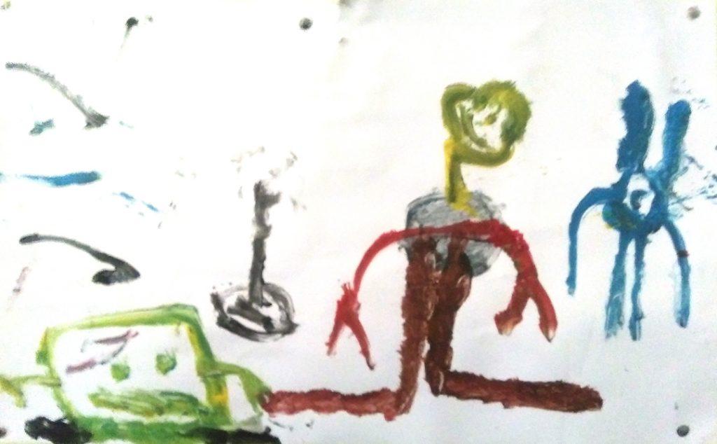 Thomas I., Spongebob Squidward & Plankton, painting