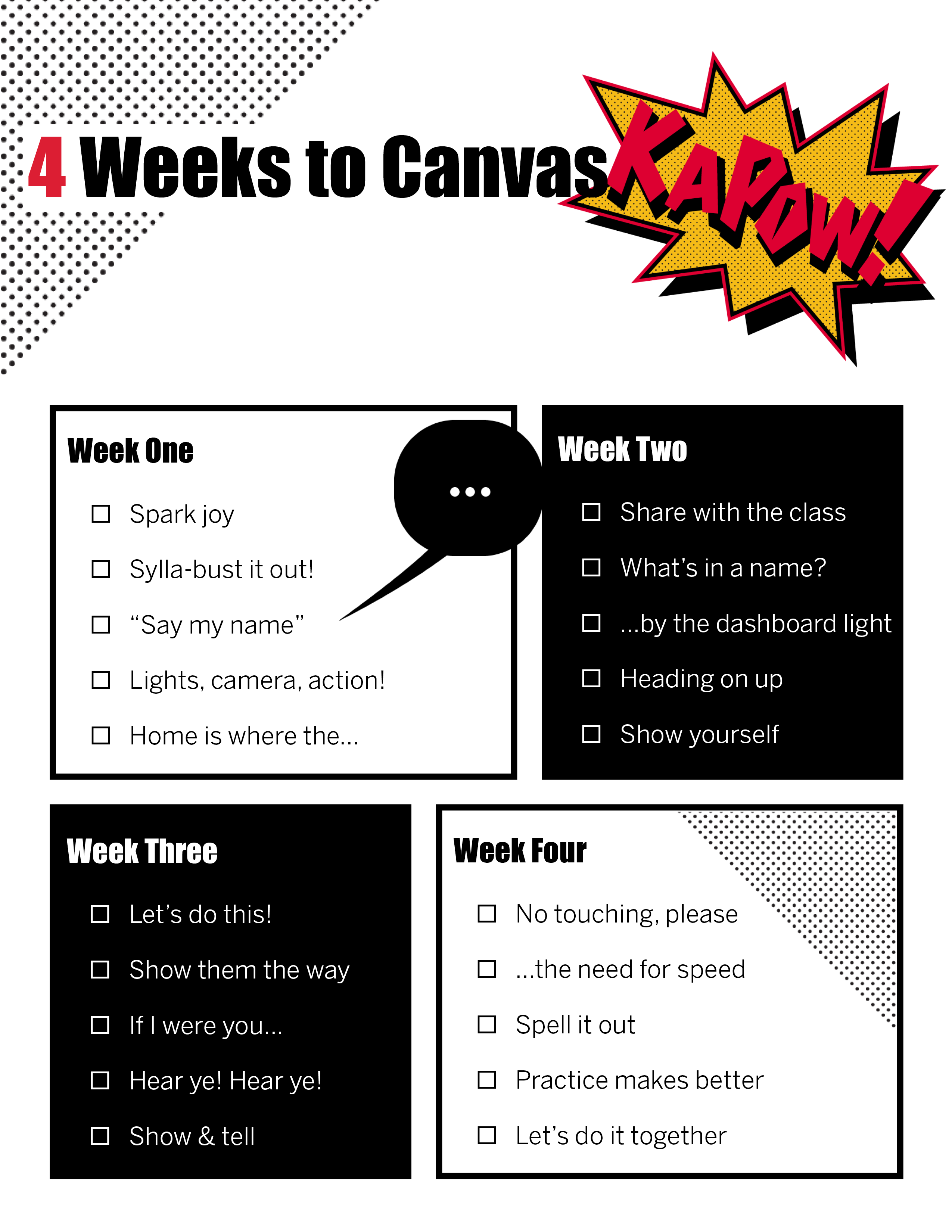 Cover image for 4 Weeks to Canvas Kapow